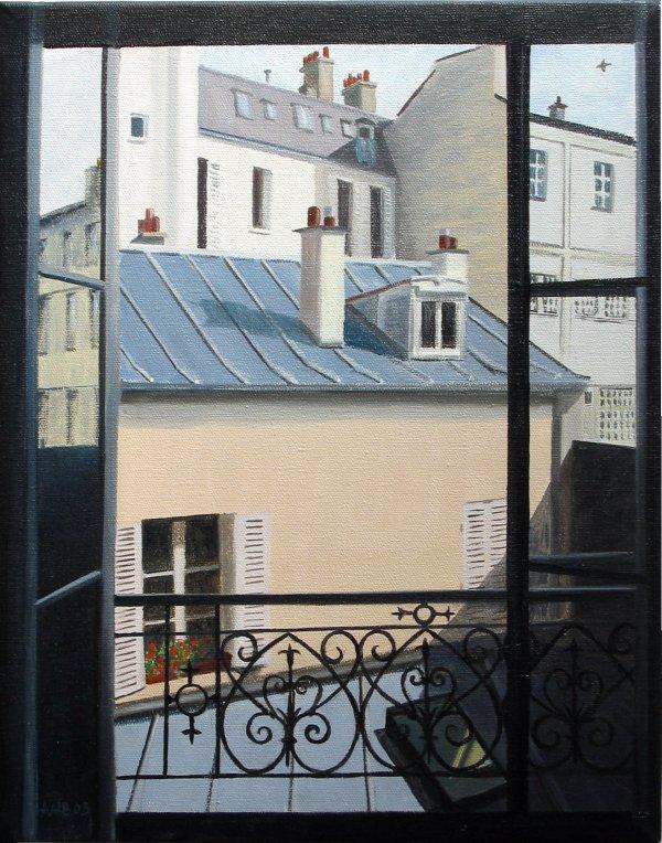 Peintures de dominique van den broeck for Fenetre paris